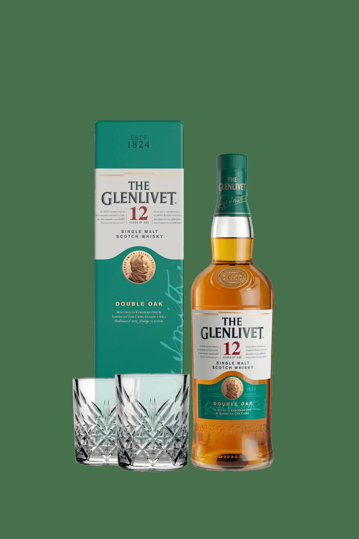 The Glenlivet 12 Single Malt Scotch Whisky (con 2 tumbler vintage)