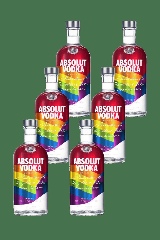 Absolut Rainbow x 6